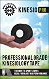Kinesio Pro® ★ Kinesiology Tape for Athletes ★ Therapeutic Sports Tape for Injury and Performance ★ Ideal for Knee, Shoulder, Elbow, Ankle, Neck Pain, Plantar Fasciitis and more - Use for Cross-Fit - Workout - Swimming - Cycling - Boxing - Basketball - Volleyball - Baseball - Soccer - Football- Or Any Other Athletic Activities (2-Inch x 16.4-Feet) - Fully Guaranteed By BodyHacks