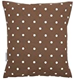 Chocolate Polka Dot Shabby Vintage Chic Cushion Cover 40x40cm / 16