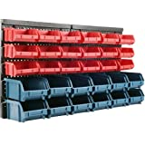 Stalwart 75-92226 30 Bin Wall Mounted Parts Rack