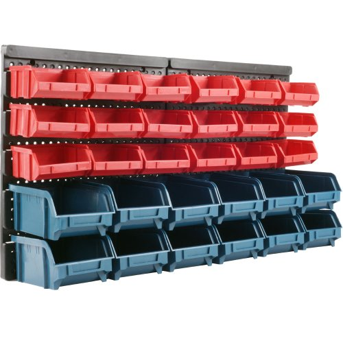 Stalwart 75-30111 Superior 30 Drawer Wall Mounted Parts Rack front-95041