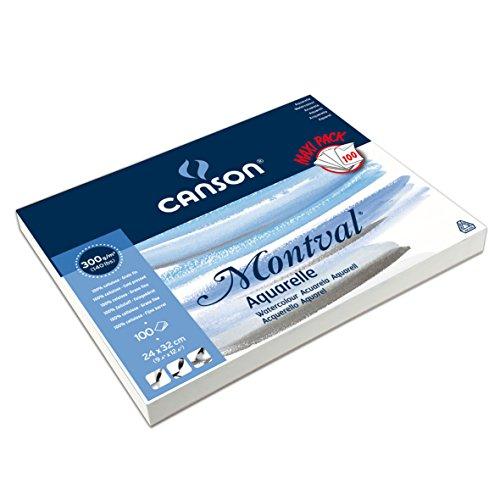 canson-montval-bloc-papier-aquarelle-100-feuilles-300-g-grain-fin-24-x-32-cm-blanc-naturel
