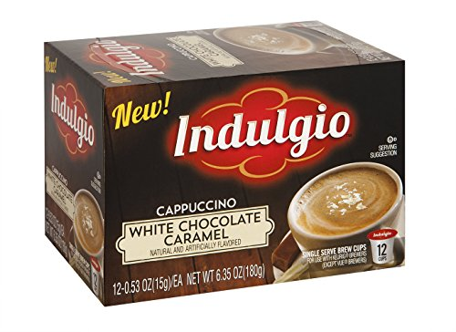 Indulgio 72 Count K-Cups (White Chocolate Caramel Cappuccino)