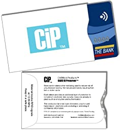 Credit Card Sleeves - RFID Blocking Holders - Best Protection For Contactless Payment Wallet Cards - Pack of 10 Wallet Sized Cases - Fit Smart Credit Debit ATM ID Common Access Cards (or CAC) & US Or Other Passport Cards - Protectors Against Identity Thef