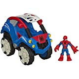 Playskool Heroes Marvel Super Hero Adventures Flip-Out Stunt Buggy Vehicle with Spider-Man Figure