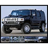 Hummer (Black Stealth) Art Poster Print - 16x20 custom fit with RichAndFramous Black 20 inch Poster Hangers