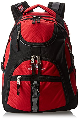 High Sierra Access Backpack, Red, 20x15x9.5-Inch