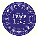 Live in Peace and Love. Bumper Sticker. ~ Peacemonger