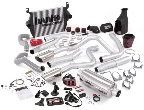 Banks Power 46640 Big Hoss Bundle; Performance System; Incl. Six-Gun Dsl Tuner/Banks iQ/Banks Ram-Air Intake/High-Ram Intake Manif/Techni-Cooler Intercooler/Monster Exhaust; Duals;
