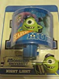 Disney Pixar Monster Inc. Night Light - with Mike Sully and Art - Curved Light 4 1/4