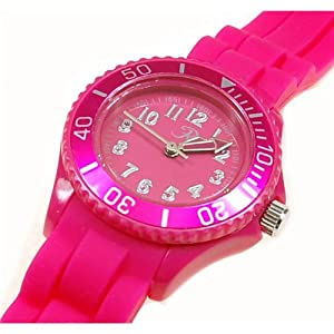Girls/Boys Reflex Silicon Rubber strap Watch Pink Children's size