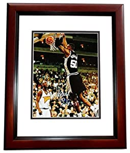 David Robinson Autographed Hand Signed San Antonio Spurs 11x14 Photo MAHOGANY CUSTOM... by Real Deal Memorabilia