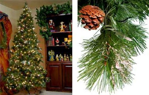 9 Ft Snowy Vermont Pine Prelit Artificial Tree