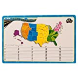 Dry Erase Lap Board United States Map...