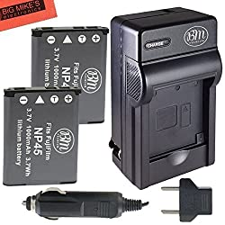 2 NP-45 Batteries And Battery Charger Kit for Select Fujifilm FinePix Models