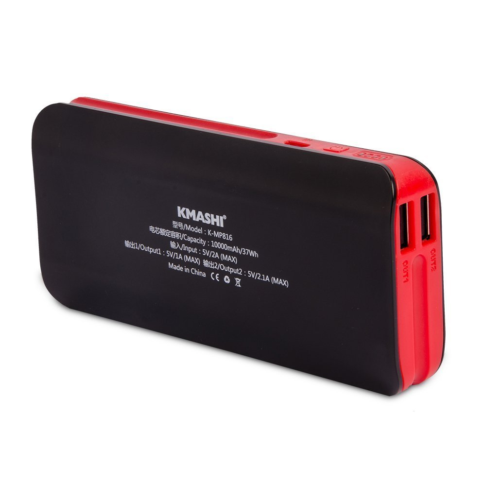 KMASHI Portable 10000mah External Battery Power Bank Dual Charger Usb ...