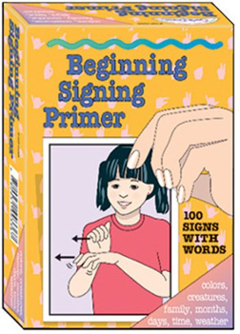 GARLIC PRESS GP-036 BEGINNING SIGNING PRIMER CARDS-100/PK 4 X 6 - 1