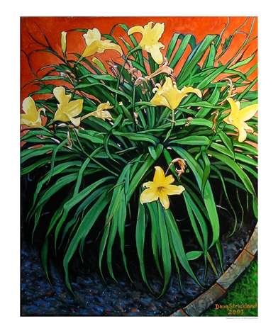 Border Daylilies Poster