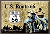 (2x3) Route 66 The Mother Road Motorcycle Retro Vintage Locker Refrigerator Magnet
