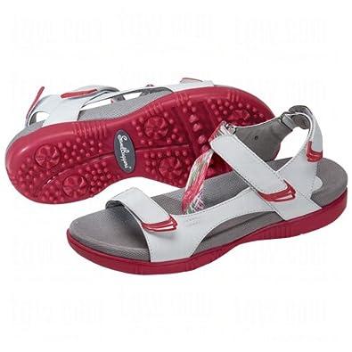 Sandbaggers Ladies Tango Golf Sandals 10 Us Berry Splash | Amazon.com
