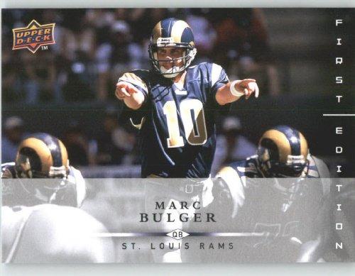 Marc Bulger St. Louis Rams 2008 Upper Deck First Edition Football Card # 133 NFL...