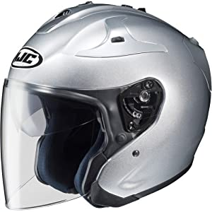 HJC Metallic FG-JET 3/4 Open Face Motorcycle Helmet - Silver / X-Large