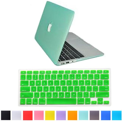 "HDE Matte Hard Shell Clip Snap-on Case + Matching Keyboard Skin for MacBook Pro 13"" (Non-Retina) - Fits Model A1278 (Seafoam Green)"