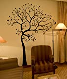 Customize your tree colors! MATTE FINISH BIG Tree with Birds Wall Decal Digiflare Graphics