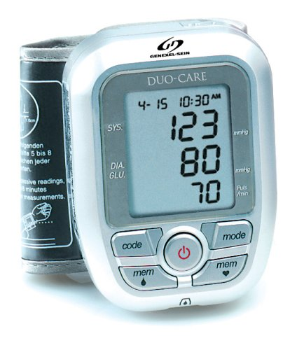 Buy Low Price GenExel-Sein DUO-CARE Combined Blood Glucose and Wrist Blood Pressure Monitor (DUO-CARE Monitor)