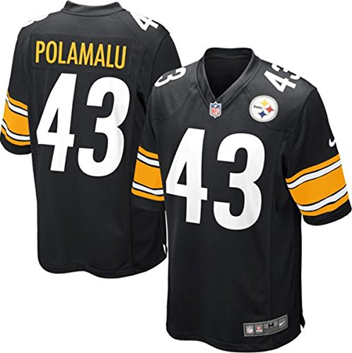 Pittsburgh Steelers Troy Polamalu #43 NFL Youth Game Jersey, Black at SteelerMania