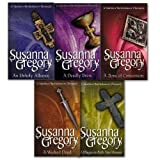 Susanna Gregory Chronicle of Matthew Bartholomew Collection 5 Books Set (A Plague on Both Your Houses, An Unholy Alliance, A Bone of Contention, A Deadly Brew and A Wicked Deed)