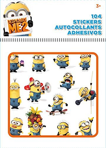 Despicable Me Minions Stickers 8 Sheets 104-piece set Birthday Party Favor