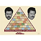 Parks and Recreation Swanson Pyramid of Greatness Poster