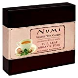 Numi Tea Velvet Caddy, Variety Pack of Monkey King Jasmine Green, Sweet Meadows Chamomile, and Simply Mint, Tea Bags, 20-Count Gift Box ~ Numi