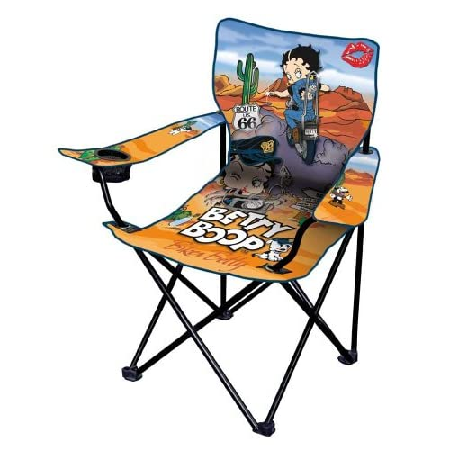 Betty Boop Folding Chair Biker Route 66