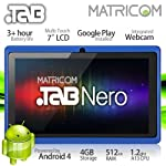 7″ Matricom .TAB Nero Tablet PC – Android 4 Capacitive Multi-Touch 4GB (Blue)