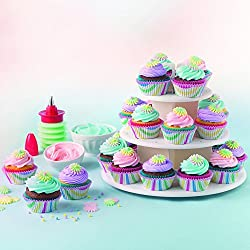 SWEET CREATIONS Cake Pop & Cupcake Stand by Good Cook, 3-Tier Display Stand, Holds 42 Cake Pops & 21 Cupcakes