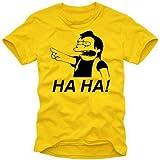 """HA HA ! NELSON - THE SIMPSONS - T-SHIRT gelb Gr.Lvon """"Coole-Fun-T-Shirts"""""""