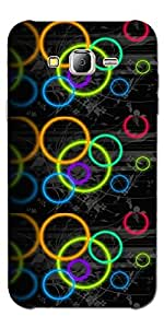 SEI HEI KI Designer Back Cover For Samsung Galaxy J2 ( J200 )- Multicolor