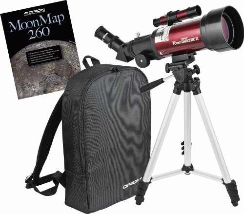 Buy Bargain Orion 10034 GoScope II 70mm Refractor Travel Telescope Moon Kit (Burgundy)