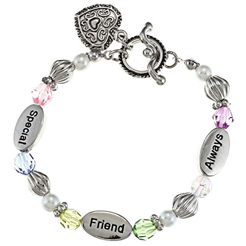 silvertone-6-special-friend-always-heart-toggle-with-multi-colored-beads-stretch-childrens-bracelet
