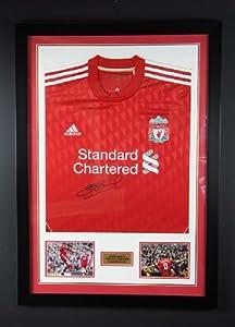 Hand Signed Steven Gerrard Liverpool Fc Framed Jersey Shirt -legendcoa Proof Memorabilia by Framemaker MK Ltd