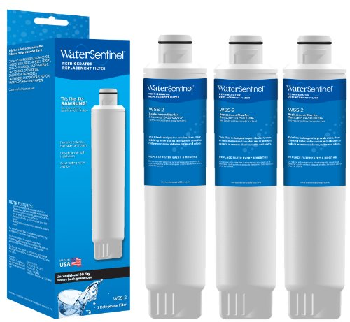 Water Sentinel WSS-2-3 Refrigerator Replacement Filter, 3-Pack