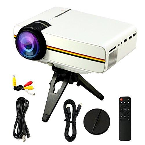 Portátil Mini LED proyector multimedia con VGA USB SD AV HDMI para Home Cinema Theater, niño juegos