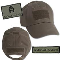 Molon Labe Tactical Hat & Patch Bundle (2 Patches + Hat) - Olive Drab