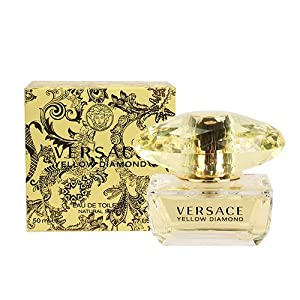Versace Yellow Diamond Eau De Toilette Spray for Women, 1.7 Ounce