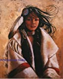 Penni Anne Cross COAT OF MUCH VALUE S/N LE CANVAS Native American Art