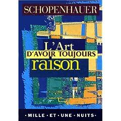 Couverture de L'Art d'avoir toujours raison de Schopenhauer