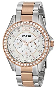 Fossil Women's ES2787 Riley Analog Display Analog Quartz Gold Watch
