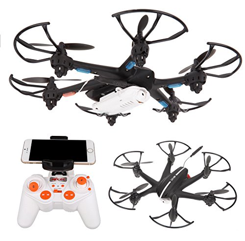TOZO-MJX-X800-FPV-Real-time-HD-camera-Video-24GHz-6-Axis-RC-Remote-Control-Hexacopter-UFO-Drone-3D-Roll-with-Gravity-Sensor-Remote-Quadcopter-Helicopter-with-Camera-Black