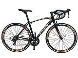 SCHNEIZER(シュナイザー) 自転車 R101 ブレーキとシフターが一体になったSHIMANOデュアルコントロールSTIレバー14速(ブラック,700C(お客様組み立て))